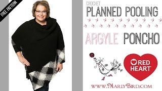 How To Crochet Planned Pooling Argyle Poncho