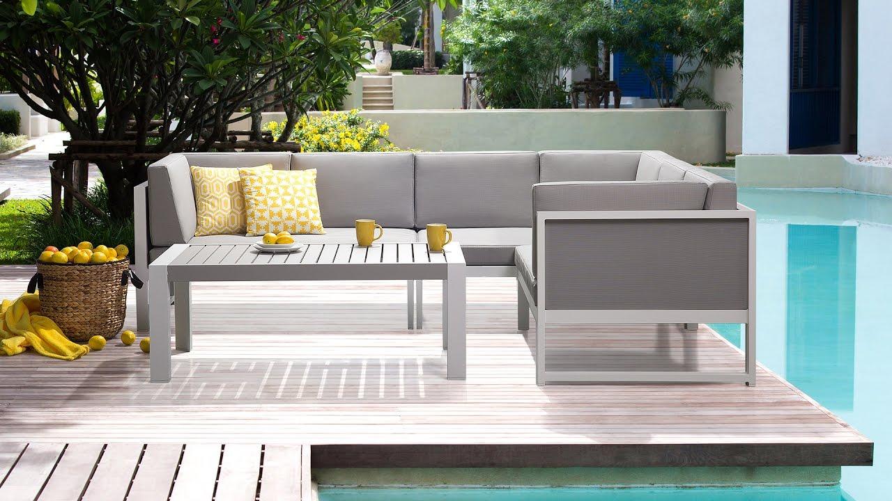 gartenm bel garden furniture meubles de jardin vinci beliani youtube. Black Bedroom Furniture Sets. Home Design Ideas