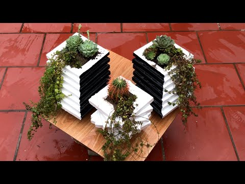 DIY - ❤️ CEMENT ART ❤️ - Making the tree pot art is simple and beautiful