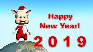 Funny Happy New Year of the Pig 2019