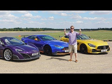 DRAG RACE: McLaren 675LT vs AMG GT R vs Aston Martin GT8