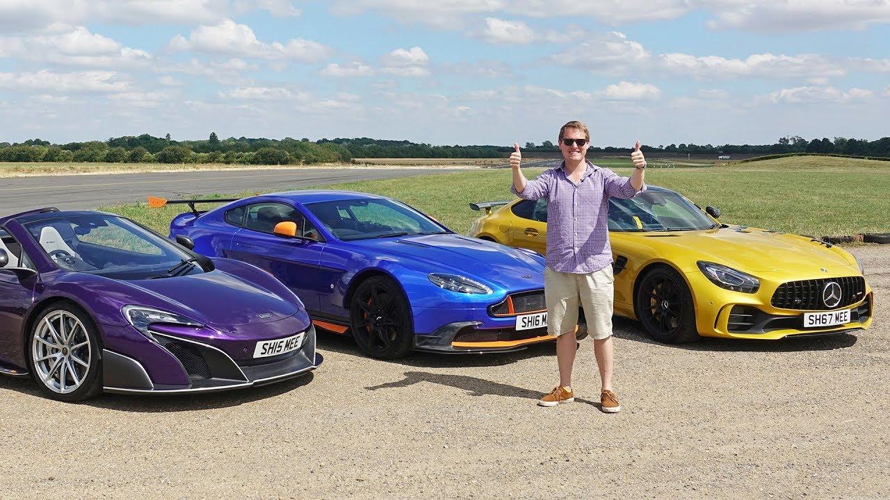 Drag Race Mclaren 675lt Vs Amg Gt R Vs Aston Martin Gt8 Youtube