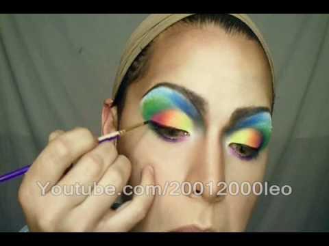 Gay Flag Makeup ( Fast Tutorial)