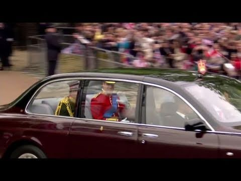 Prince William and Prince Harry leave Clarence House