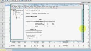 SPSS Video-Seminar #  Teil 33: Inferenzstatistik -- Kruskal-Wallis H