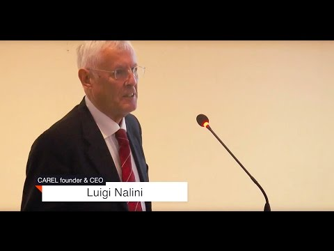 Luigi Nalini, CAREL CEO, at the 5th 'Energy in Buildings' conference