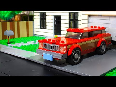 Lego Ford LTD Country Square MOC Speed Champions Style