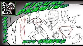 Drawing Lessons - Comic Book Art Style - Breaking Down Shapes in Figure Drawing