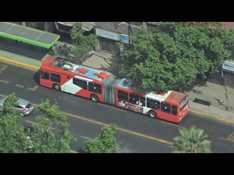 Buses In Santiago, Chile - Red Metropolitana De Movilidad