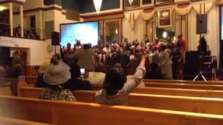 Tevis Harris Directing the Word Tabernacle Church Choir