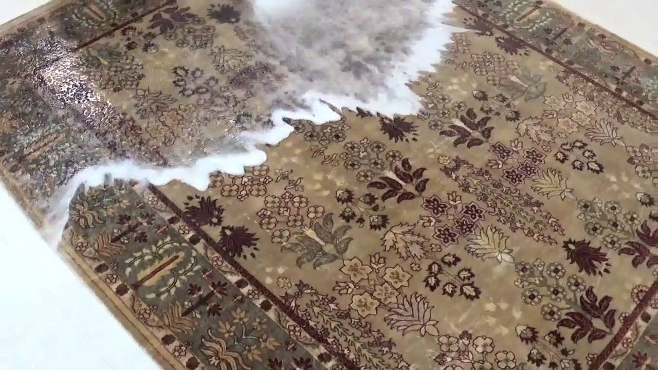 limpieza y desinfeccion de alfombra persa de lana y seda