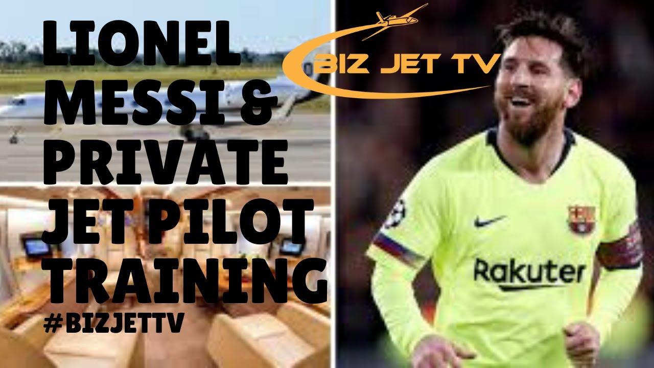 Lionel Messi & Private Jet Pilot Training