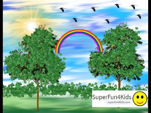 Tux Paint Drawing Software- Rainbow In The Forest