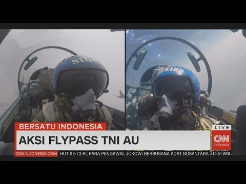 Spektakuler! Kerennya Aksi Flypass TNI AU Di HUT RI Ke-73 #17an, #Dirgahayu73