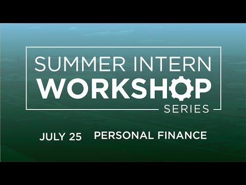 Intern Professional Development Workshop Series: Personal Finance
