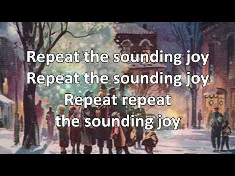Joy To The World - Instrumental with Lyrics (no vocals)