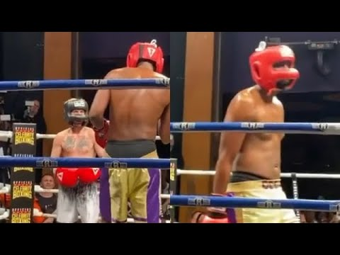 Lamar Odom knocks Aaron Carter out in the second round of their ...