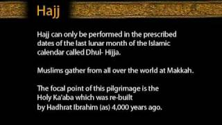 Hajj can only be performed in the prescribed dates