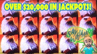 🤯 OVER $20,000 IN JACKPOTS ❗️ 🤯 THUNDER CASH vs EAGLE BUCKS AINSWORTH