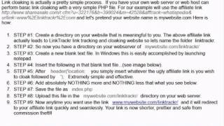 LINK URL CLOAKING explained
