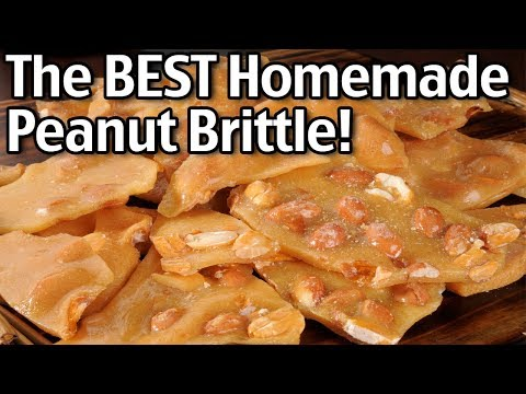 The Best Homemade Peanut Brittle! Easy Peanut Brittle Recipe!