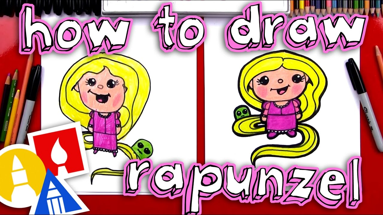 how to draw a reponzel
