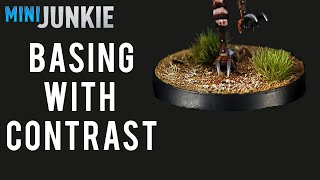 Basing with Contrast Paints - Fast and Easy