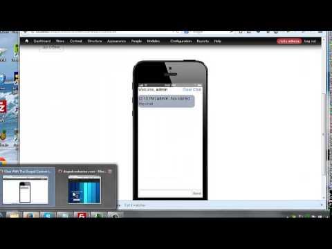 Drupal 7 Custom Chat Application