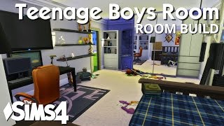 The Sims 4 Room Build - Teenage Boys Bedroom