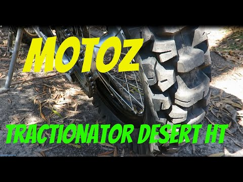 """Motoz Tractionator Desert H/T Tyre """"Review"""". CRF Rally"""