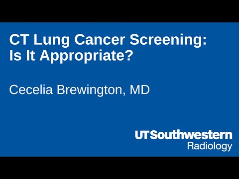 CT Lung Cancer Screening: Is It Appropriate?