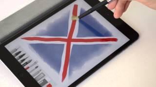Sensu Brush - рисуем Британский флаг(Sensu brush - первая кисточка-стилус для сенсорного экрана. Подробный обзор кисточки http://youtu.be/YsDfy2AAoD8., 2014-05-07T18:49:14.000Z)