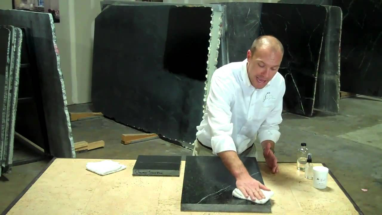 Mineral Oiling Your Soapstone - YouTube on