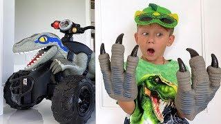 سينيا وقصة طفولته عن الديناصور. مجموعة من أفضل الفيديوهات!