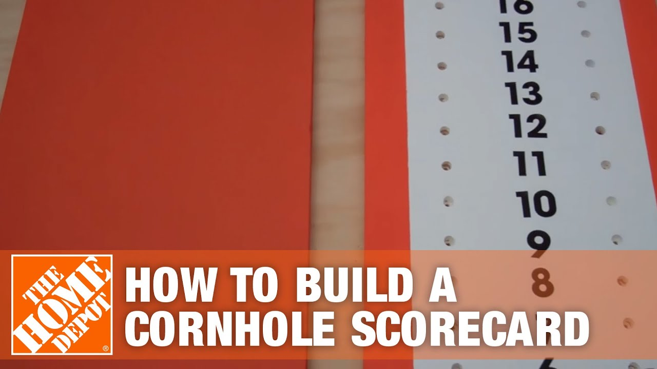 How To Build a Cornhole Scoreboard | The Home Depot