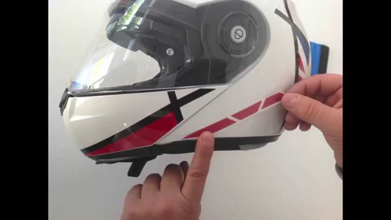 How To Schuberth C Pro Vector Flag Series Stickers Kit YouTube - Motorcycle helmet decals kits