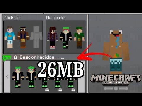 Minecraft PE Com Skins dos Youtubes Beto,Robin Hood,GigaOindio,Cah,Gueto,Refine,carlos gameplay