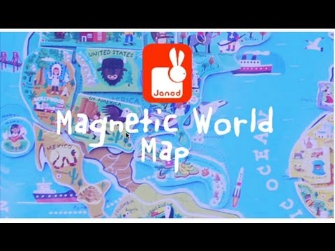 Magnetic World Map YouTube - Magnetic us map puzzle janod