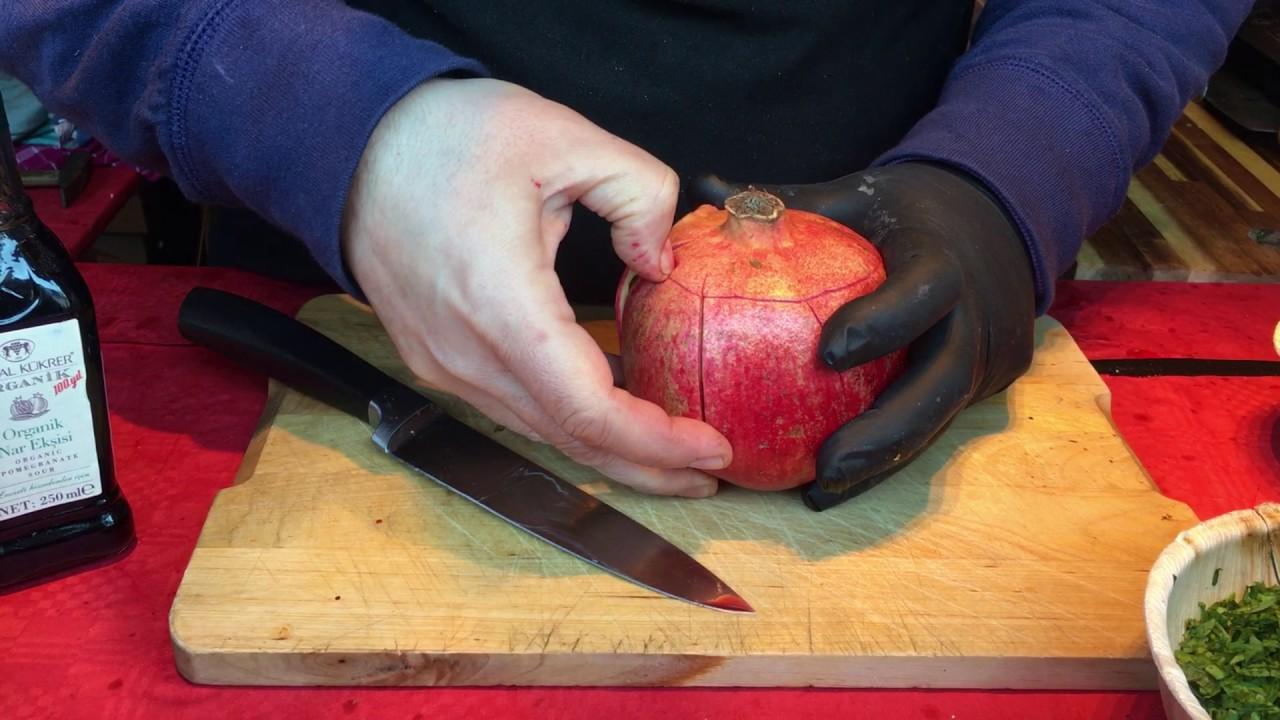granatapfel schneiden