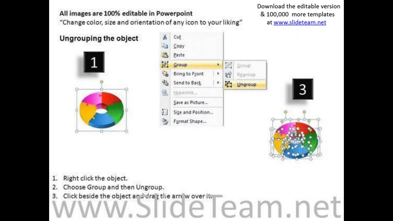 Download 5 Pieces Donut Powerpoint Charts And Pie Chart Templates
