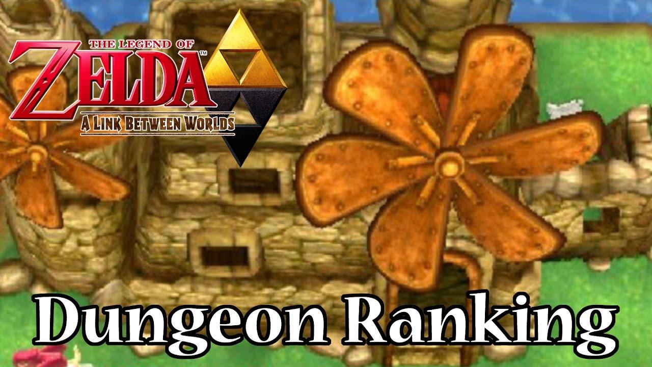 Legend of Zelda A Link Between Worlds Dungeon Ranking