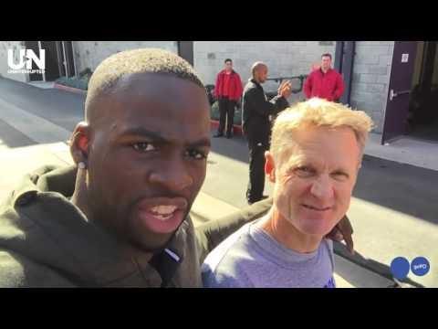 Warriors Draymond Green Hangs With Steve Kerr After Practice