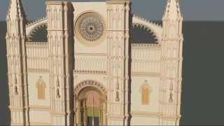 Catedral de Mallorca - Fachada Moderna - Prueba 3D