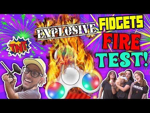 EXPLOSIVE FIDGET SPINNER MELTS! GUNS, FIRE, SHATTERED GLASS ON THE FUNKEE BUNCH!!