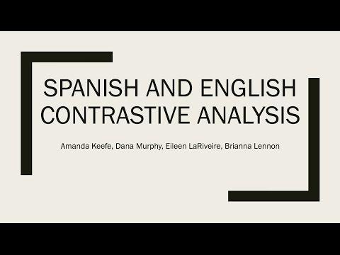 EDC 527  Contrastive Analysis Presentation