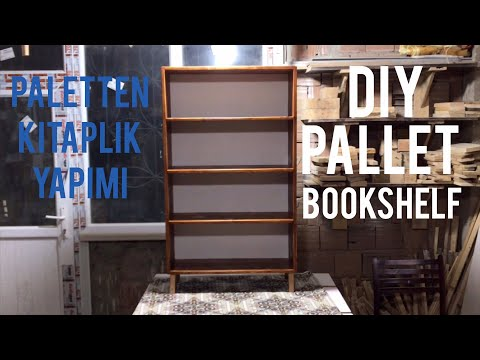 Paletten Kitaplık Yapımı // Making A Bookshelf From Pallet