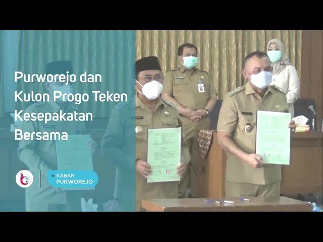 Purworejo dan Kulon Progo Teken Kesepakatan Bersama