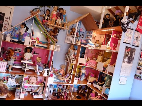 HUGE AMERICAN GIRL DOLL HOUSE TOUR! - Part One