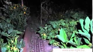 Видеодемонстрация работы налобного фонаря Fenix HP25 в разных режимах