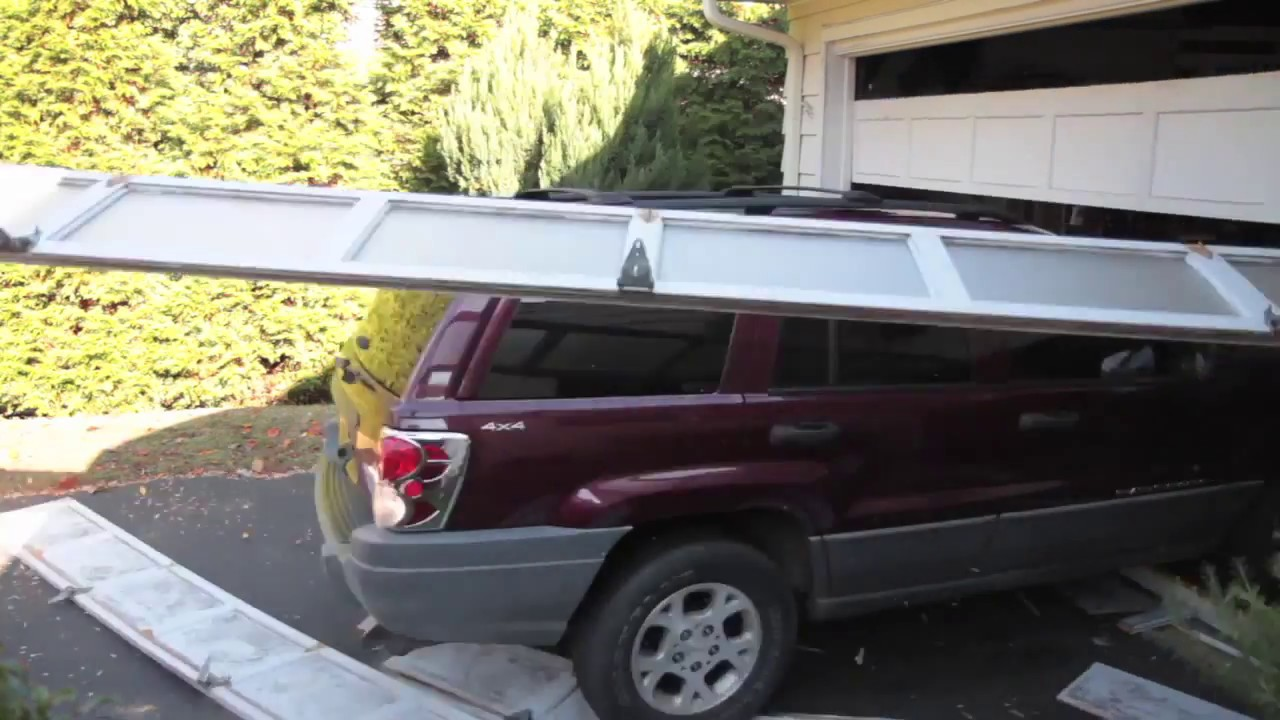 Garage Door Accidents : Crash through garage door youtube